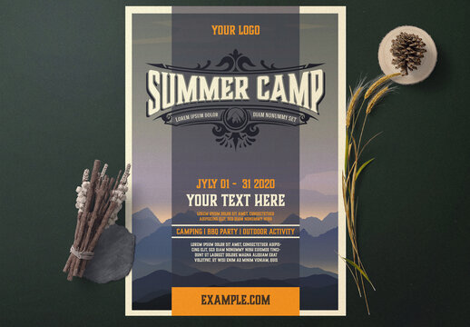 Summer Camp Event Flyer Layout