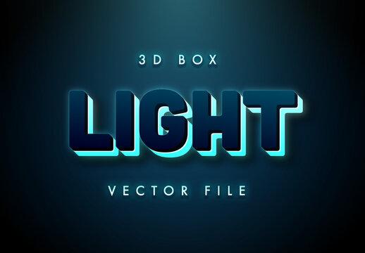 3D neon Light Box Text Effect