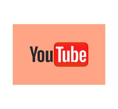 YouTube logo. YouTube is a video-sharing website headquartered in San Bruno California. YouTube app . Kharkiv, Ukraine - June 15, 2020