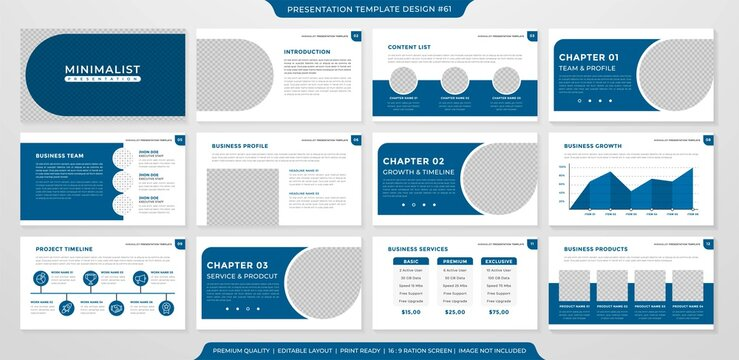 presentation layout template design with minimalist and modern concept use for business profile and annual report