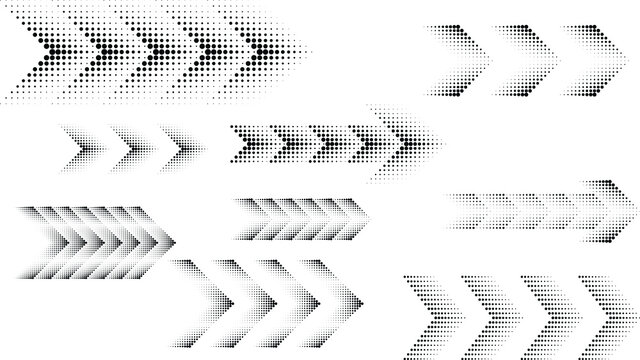 Abstract Hipster Linear halftone dots Background with arrow design elements . Vector