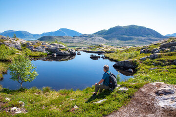 Hike to Vikerheia a great summer day in Nordland county