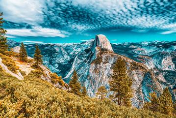 Magnificent national American natural park - Yosemite.