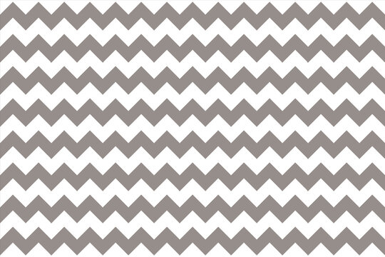 Classic zig-zag simple pattern for textile. vector seamless texture. White grey. graphic illustration