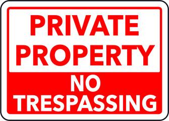 Obraz Private property sign  - fototapety do salonu