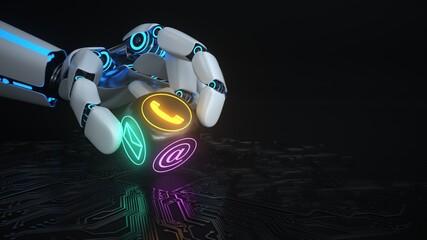 Humanoid Robot Hand Contact Cube