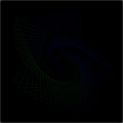 Gradient LineArt 00034, Vektor,Muster, Hintergrund, gruen, blau, schwarze Farben,, Sterne, Spirale, Kunst