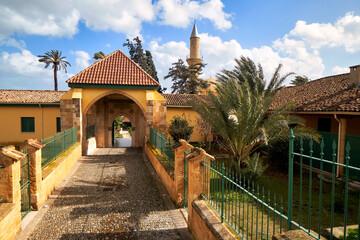 Hala Sultan Tekke mosque in Cyprus Larnaka famous tourism travel muslim landmark Wall mural