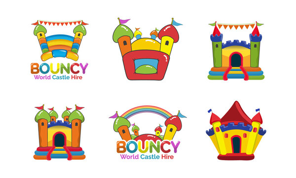 Bouncy Castle Hire logo design bundle