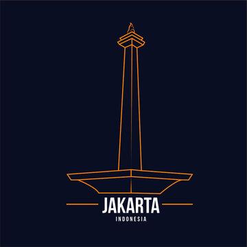 Monas Jakarta vector illustration