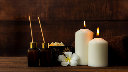 Thai spa massage. Spa treatment cosmetic beauty. Therapy aromatherapy for care body women