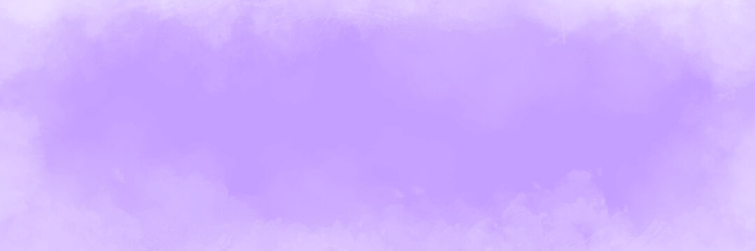 Abstract cloudy purple lavender background  with empty space for your message