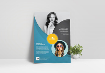 Corporate Business Flyer Layout with Black Accents