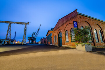 Blue hour and sunrise from around Mare Island in Vallejo, California.