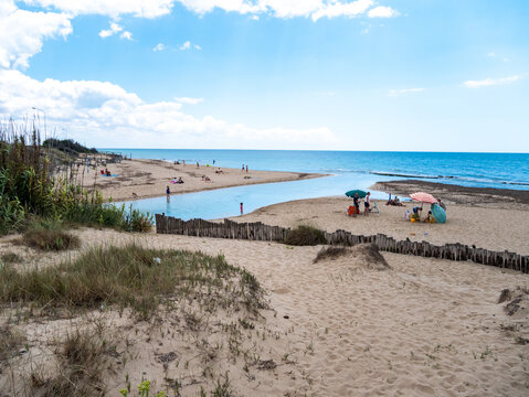 Natural Reserve of the mouth of the Chidro River in Salento. San Pietro in Bevagna, Manduria, Apulia, Italy