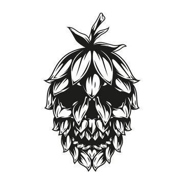 Skull hop cone template