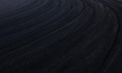 Motor Racing Track Corner Apex / Tire tracks on asphalt
