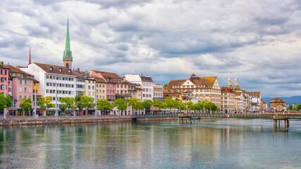 Wall Mural - Zurich city in the daytime, Switzerland