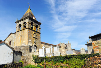 Church of San Juan (Saint John) in Laza, village in the province of Ourense famous for its carnival, Galicia, Spain