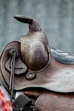 Detail of western style saddle