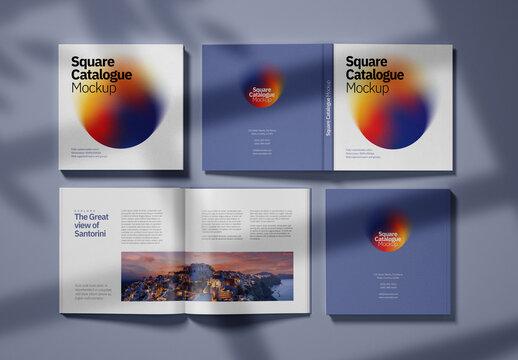 Realistic Square Catalogue Mockup