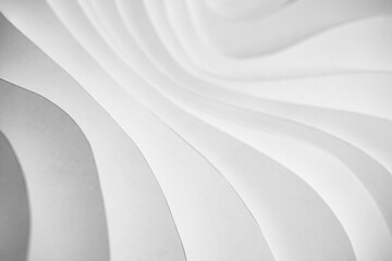 Wave pattern paper sculpture background