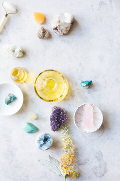 Skin care product with a variety of gemstones