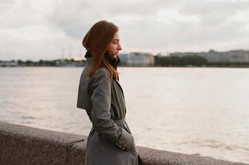 Woman enjoys river view