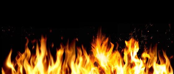 Aluminium Prints Grill / Barbecue Fire.