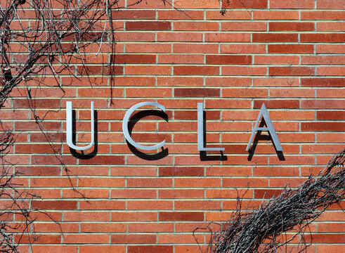 Los Angeles, California, USA - March 17, 2014: An entrance to The University of California, Los Angeles located in Westwood, Los Angeles, California on March 17, 2014.