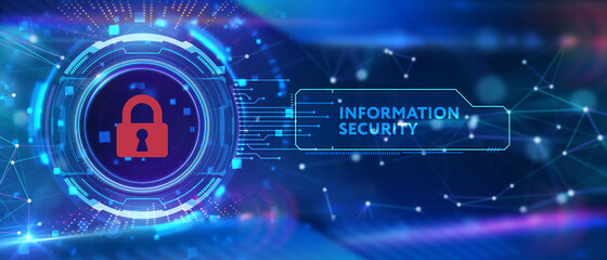 Cyber security data protection business technology privacy concept. Information security Wall mural
