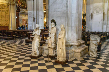 Interior of Basilica of Santa Maria Maggiore in Bergamo. Italy