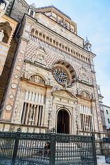 Facade of Cappella Colleoni in Bergamo. Italy