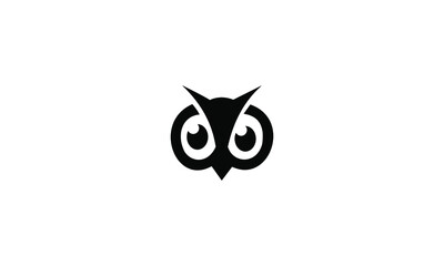 Canvas Prints Owls cartoon black silhouette of a owl