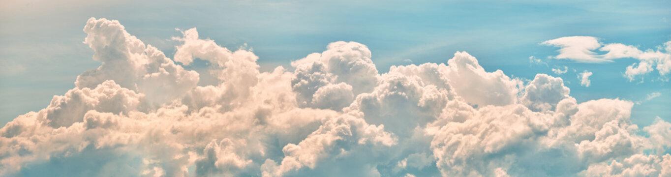 Sky clouds panorama landscape