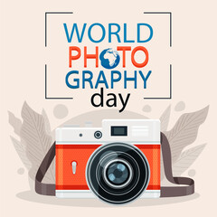 Acrylic Prints Retro sign World Photography Day 19 August Poster Design