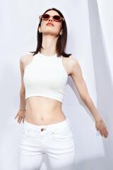 posing summer model