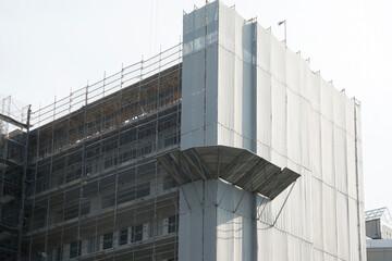 マンション建設現場 イメージ 落下防止壁