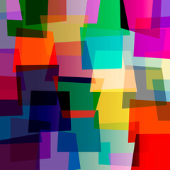abstract colorful background, retro style, with trapeze