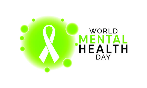 World Mental Health Day is an international day for global mental health education, awareness and advocacy against social stigma. Vector illustration.