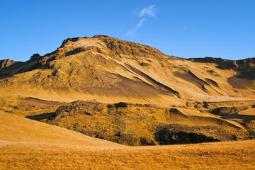 Iceland volcanic landscape mountain panorama beautiful islandic nature outdoor