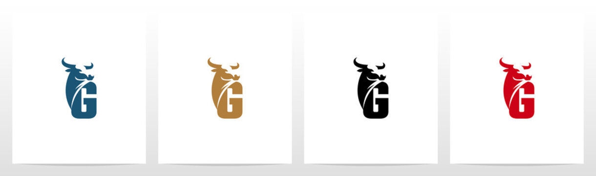 Buffalo Head On Letter Logo Design G