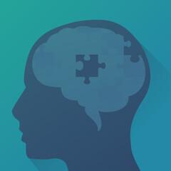 Perte de fonction cognitive (flat design)