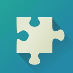 Pièce de puzzle (flat design)