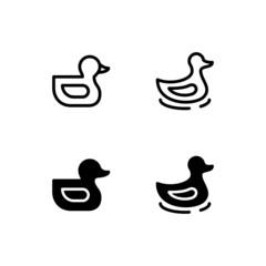 Duck Icon Logo Vector Symbol