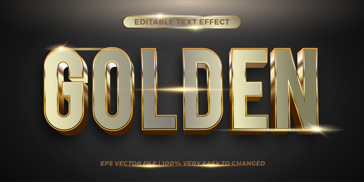 Editable text effect - Golden text style concept