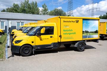 ROGGENTIN, GERMANY - JUNE 14, 2020: StreetScooter Work of Deutsche Post DHL.