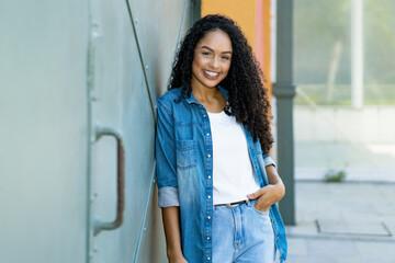 Portrait of pretty brazilian female young adult