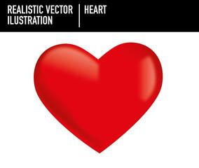 Ilustración hiperrealismo corazón rojo