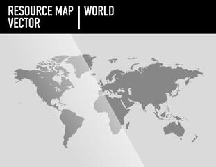 Mapa del mundo en vector. 100% modificable. Semicirculo de la tierra